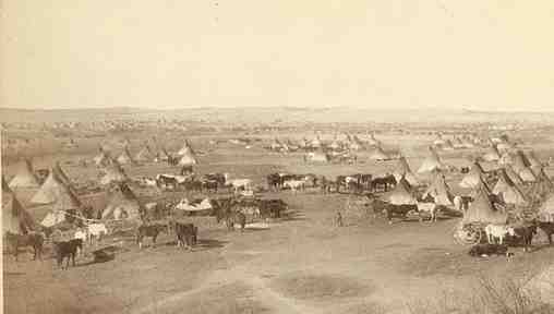 Photo of Comanche Indian Camp near present-day Amarillo Texas