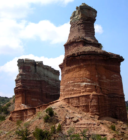 Photo of Lighthouse Formation in Palo Duro Canyon Park south of present day Amarillo Texas