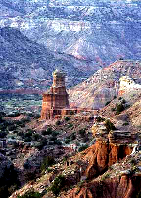 Photo of Palo Duro Canyon near present day Amarillo Texas